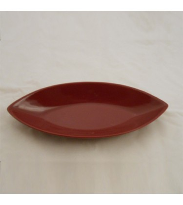 Burgundy Oval Shape Ceramic  Décor Dish