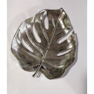 Silver Decorative Leaf Dish 18cm