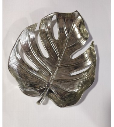 Silver Decorative Leaf Dish 18cm