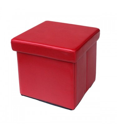 Foldable Ottoman Red
