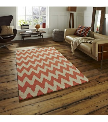 HNKG Geometry Beige Orange Rug