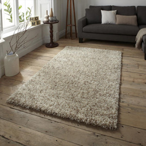 Lista Ivory and Beige Mixed Shaggy Rug