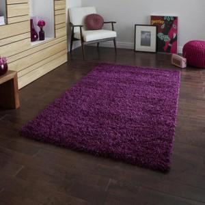 Lista Plain Purple Shaggy Rug