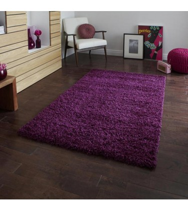 Lista Plain Purple Shaggy Rug