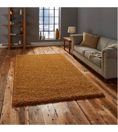 Lista Plain Orange Shaggy Rug