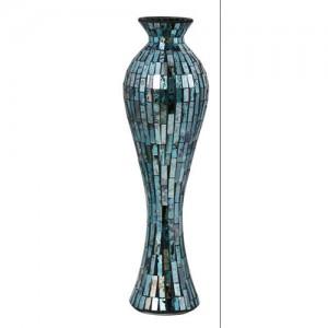 Blue Mosaic Tile Vase Large 66cm
