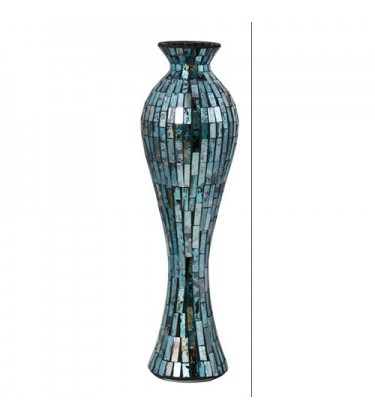 Blue Mosaic Tile Vase Large 66cm
