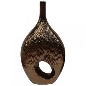 Bronze Hole Bottle Vase Large 60cm