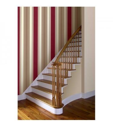 Delphi Stripe Red Wallpaper 5sqm
