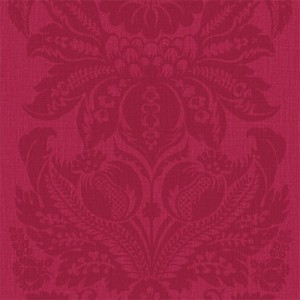 Large Damask Print Wallpaper Cerise 5sqm