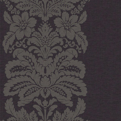 Quintz Black Damask Wallpaper 5sqm