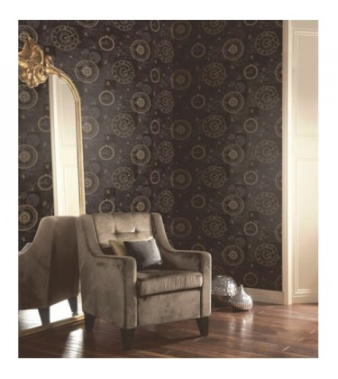 Clockwise Black and Gold Wallpaper 5sqm