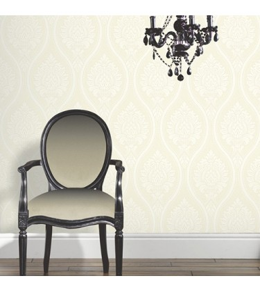 Rona Cream Damask Wallpaper 5sqm