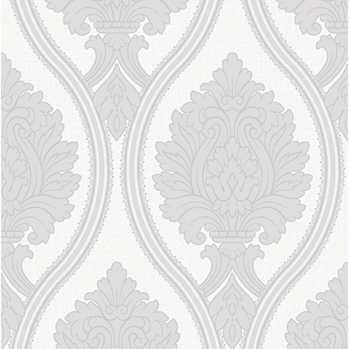 Rona Grey Damask Wallpaper 5sqm