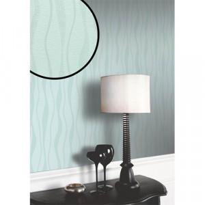 Glittery Blue Wavy Wallpaper 5sqm