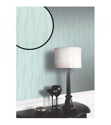 Glittery Blue Wavy Wallpaper 5sqm