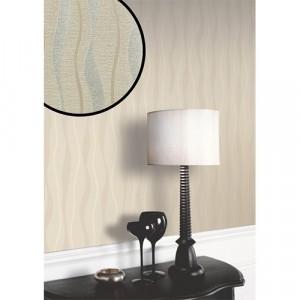 Glittery Taupe Wavy Wallpaper 5sqm
