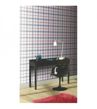 Checkered Blue and Red Wallpaper 5sqm