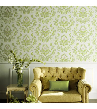 Joux Green Damask Wallpaper
