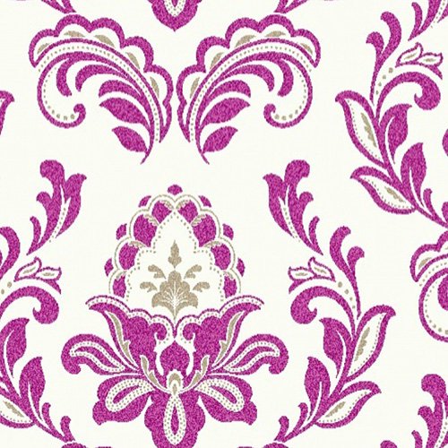 Joux Purple Damask Wallpaper 5sqm