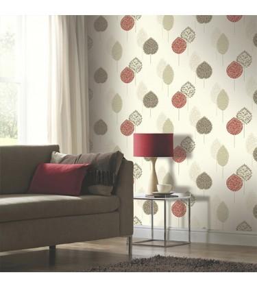 Ante Motif Red Wallpaper 5sqm