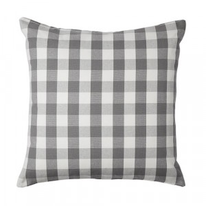 Grey and White Check Kia Cushion