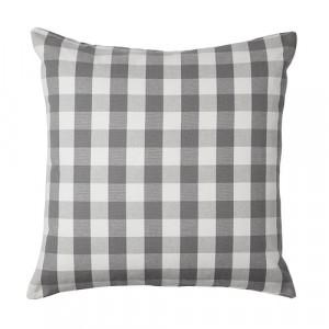 Grey and White Check Kia Cushion