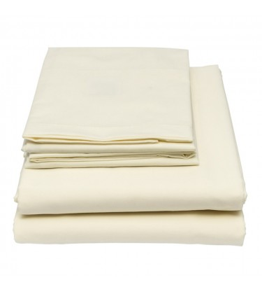 Ivory Flat Sheet for 6ft by 7ft Bed