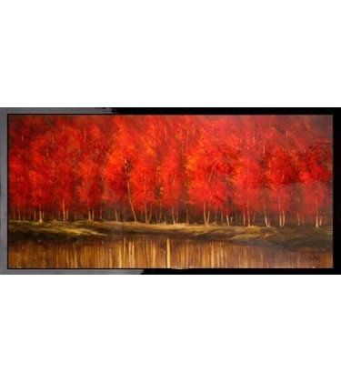 Crimson Morning High Gloss Large Wall Art