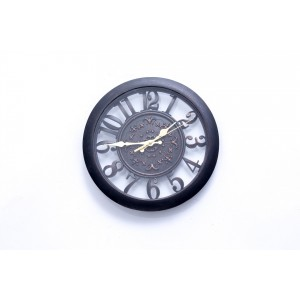 Filligre Wall Clock Black