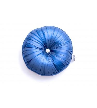 Large Round jewel Cushion Blue