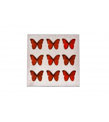 Butterfly Canvas Wall Art Red