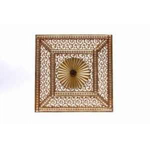 Square Metal Persain Cut Out Wall Art Gold