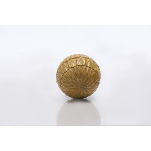 Large Resin Ball Antique Gold