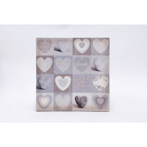 Heart and Stone Canvas Wall Art