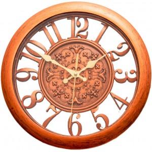 Filligre Wall Clock Brown