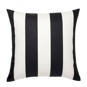 Bold Stripe Black and White Cushion
