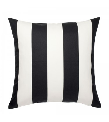 Bold Stripe Black and White Cushion