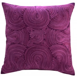 Swirl Cushion Purple