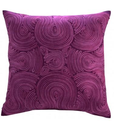 Swirl Cushion Purple