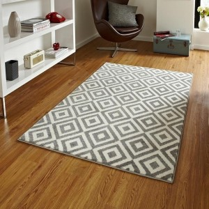 Trixx Geometry Grey and White Rug