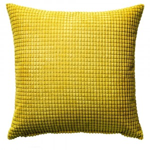 Block Cushion Yellow